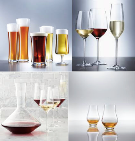 Diverse soorten glazen