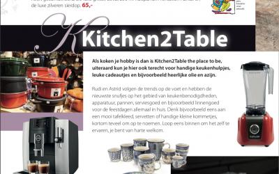 Kitchen2table in magazine Verrassend Winkelen